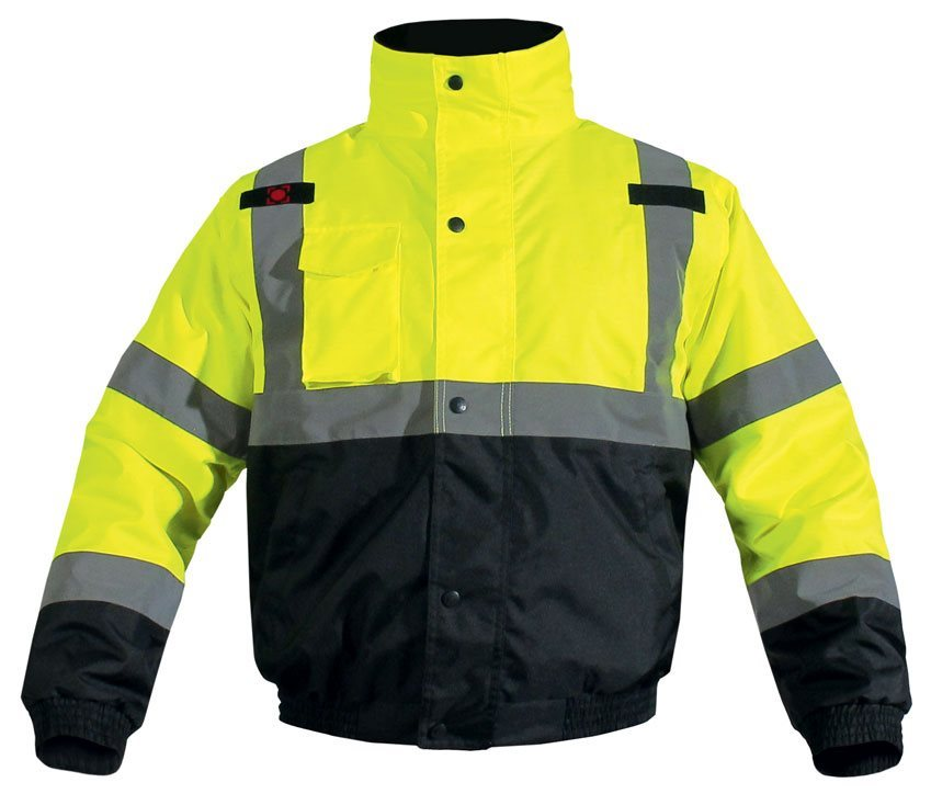 Blouson de sécurité cargo jaune