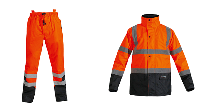 Ensemble pluie orange