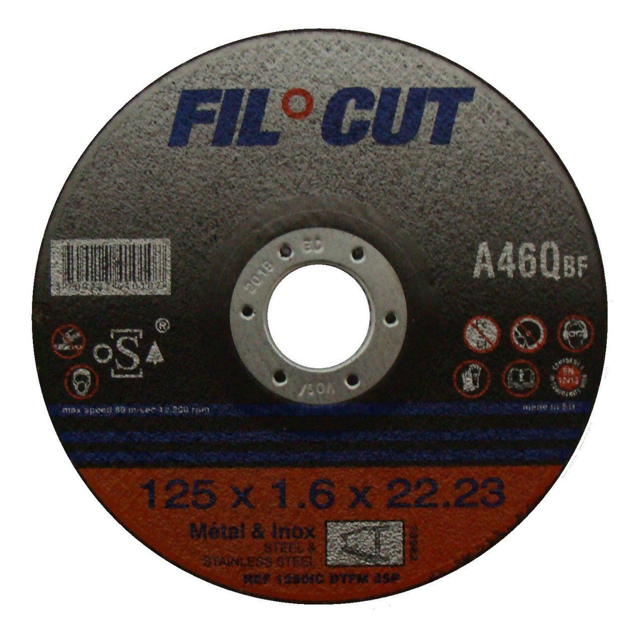 disque fin 125x1,6x22 acier/inox