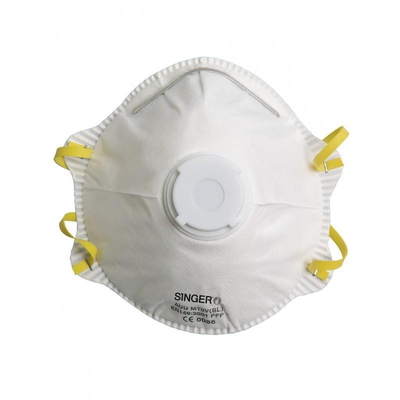 Demi-masque respiratoire filtrant avec valve