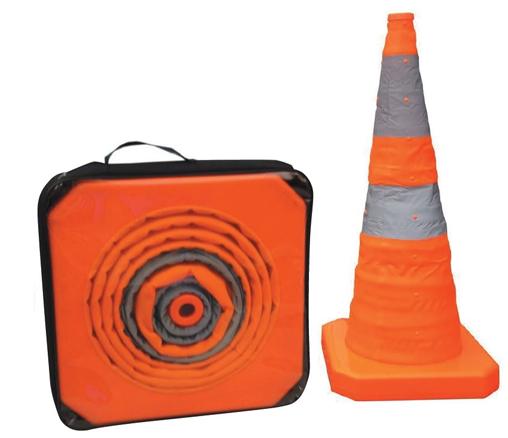 Cone retractable orange 70 cm