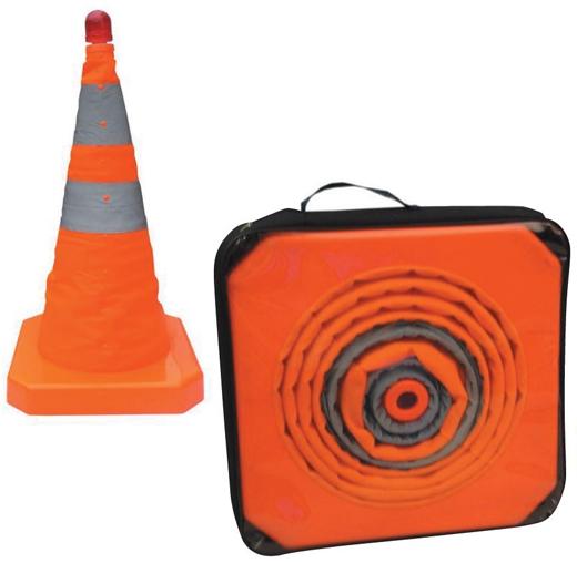 Cone retractable orange 50 cm
