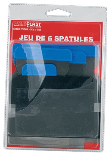 Jeux de 6 spatules assorties
