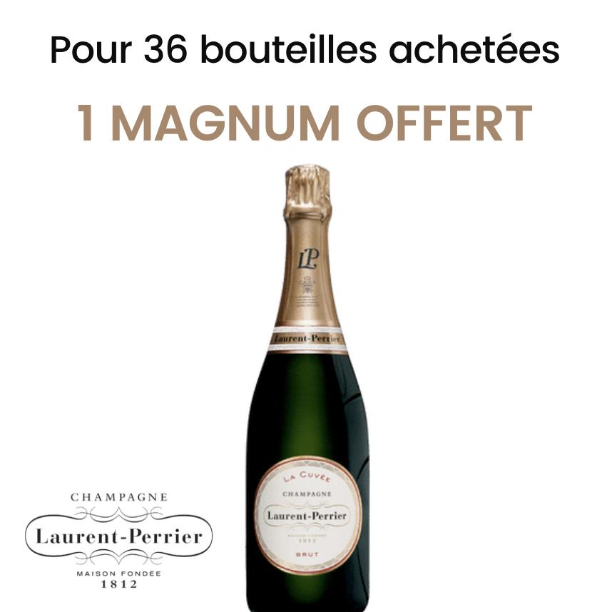 Offre Champagne Laurent-Perrier La Cuvée 75cl<br><b>1 magnum offert</b>