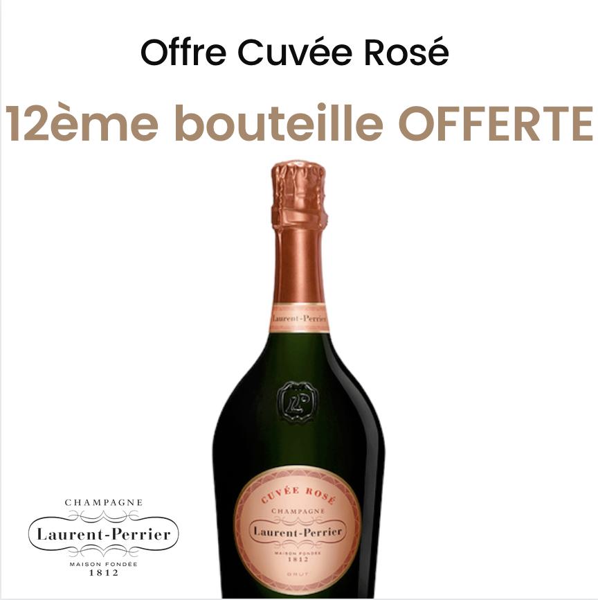 Offre Champagne Laurent-Perrier Cuvée Rosé 75cl<br><b>La douzième bouteille offerte</b>