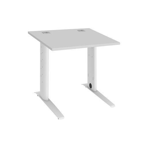 bureau droit 80 cm gris