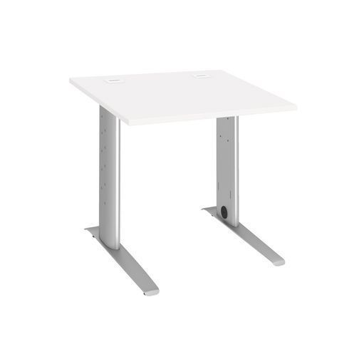 bureau droit 80 cm blanc