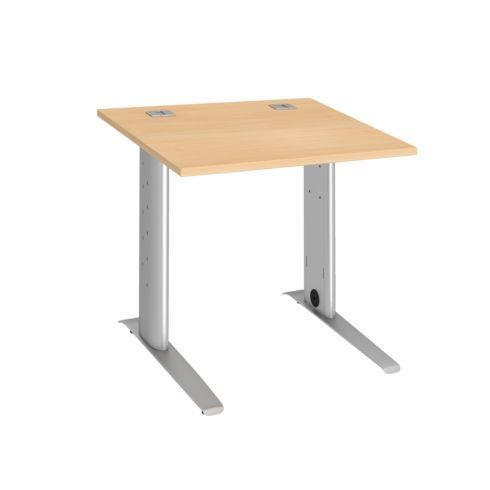 bureau droit 80 cm hetre