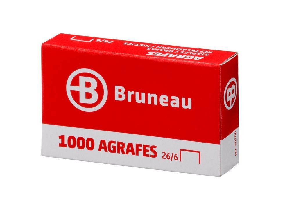 AGRAFE BRUNEAU 26/6 GALVANISÉE - BOÎTE DE 1000
