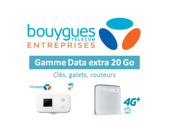 Data extra 20 Go : Clés, galets, routeurs