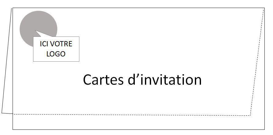 Carte invitation 350g 10x21 - 250 ex