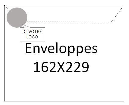 Enveloppes 162x229 - 1000 ex