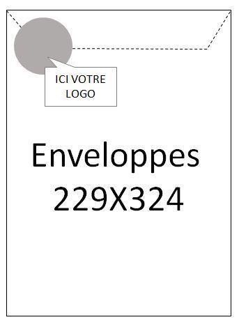 Enveloppes 229x324 - 1000 ex