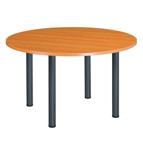Table ronde 120 cm merisier