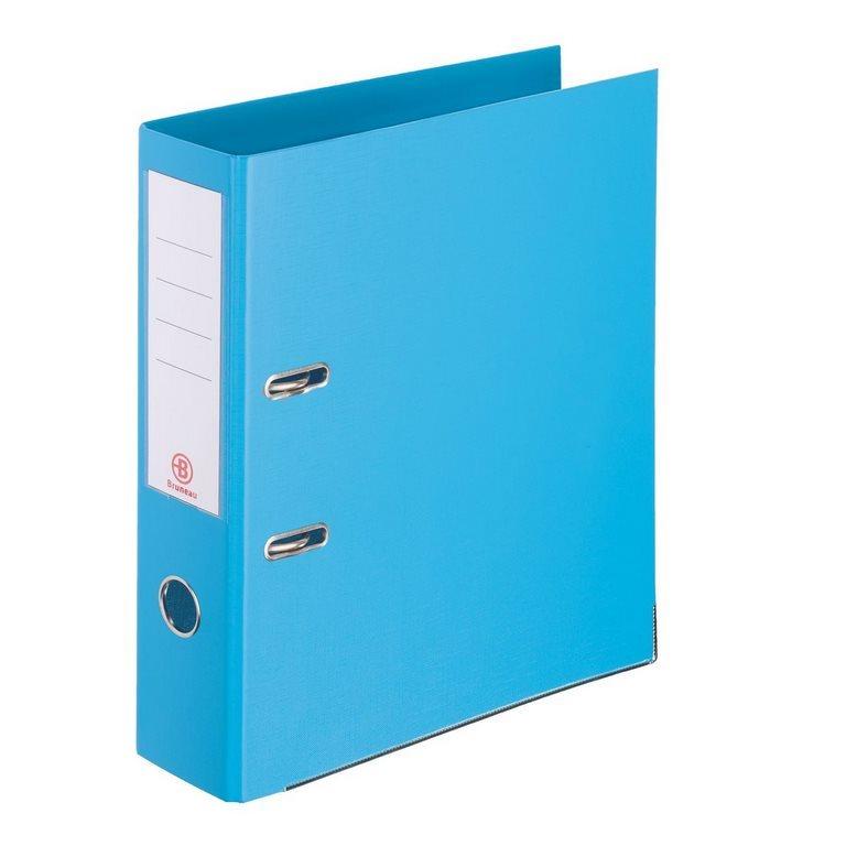 Classeur À Levier Plastifié Bruneau A4 - Dos 7,2 Cm Bleu