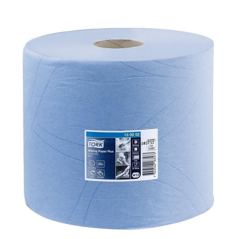Bobine D'Essuyage Tork W1/2 Plus Bleue - Longueur 255 M