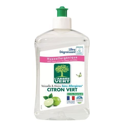 Liquide Vaisselle Mains Arbre Vert Mains Citron Vert - Flacon 500 Ml