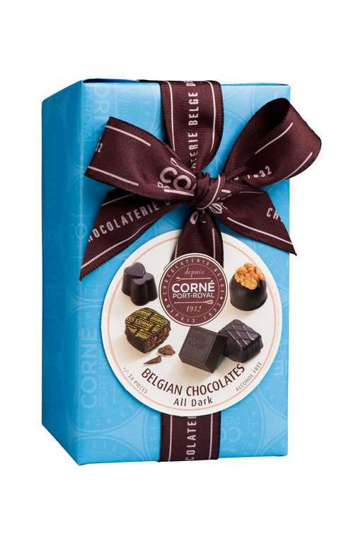 Ballotin 34 chocolats noirs<br>SANS ALCOOL