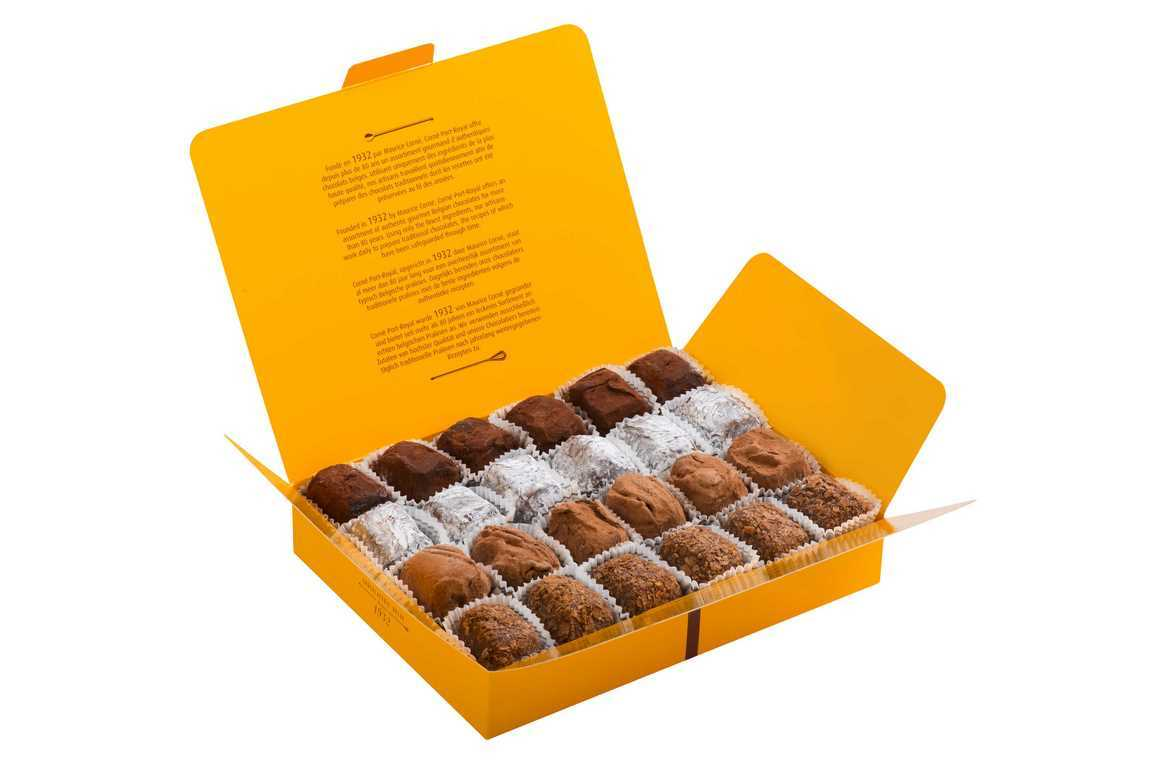 Boîte garnie 24 truffes assorties