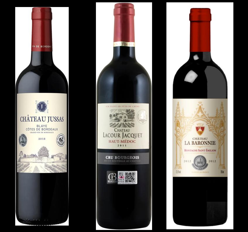 Coffret 3 bouteilles rouges<br><b>Grands Classiques de Bordeaux</b>