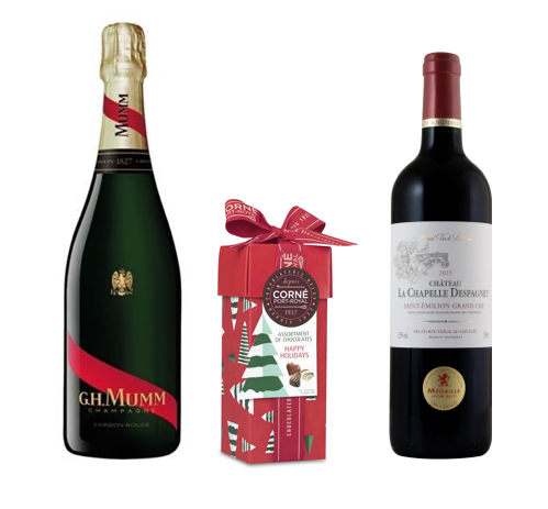Coffret Panaché <br><b>Vin, Champagne et Chocolats</b>