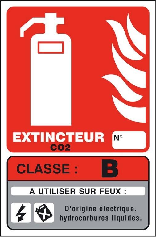 PANNEAU PVC EXTINCTEUR CLASSE DE FEU (B) 100*150