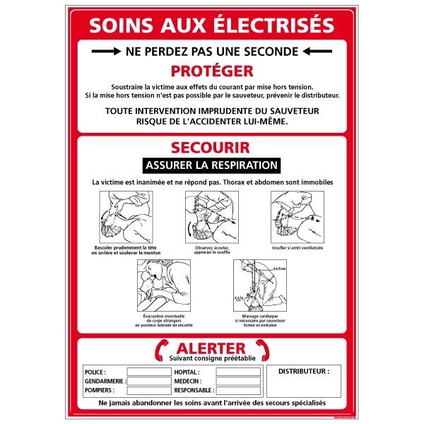 CONSIGNE SOINS ELECTRISE A4 PLASTIFIE