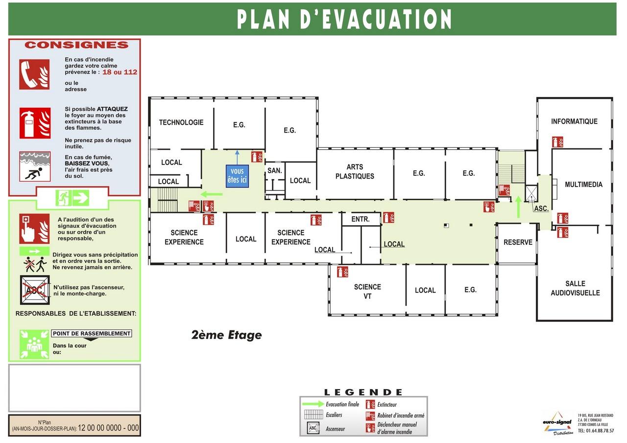 PLAN EVACUATION A3 SANS CADRE