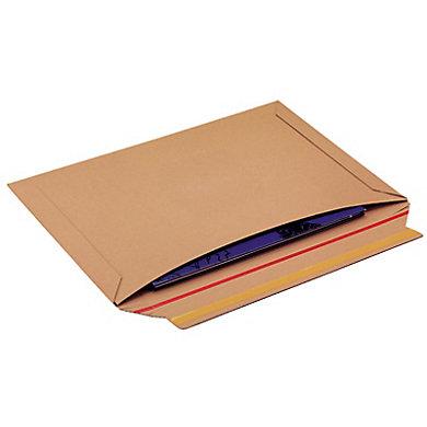 Pochette carton avec fermeture adhésive