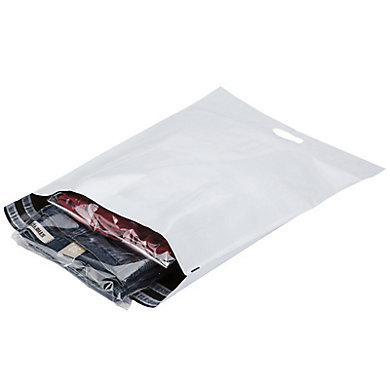 Pochette plastique opaque Aller/Retour à poignée