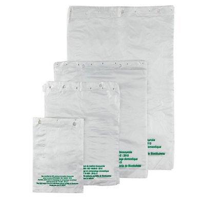 Sac plastique plat standard liassé biosourcé 13 µ TRANSPARENT