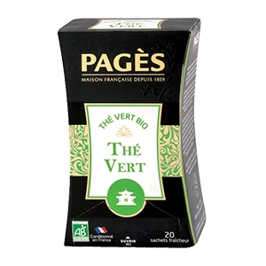 Thé Vert nature Bio Pagès 20 sachets