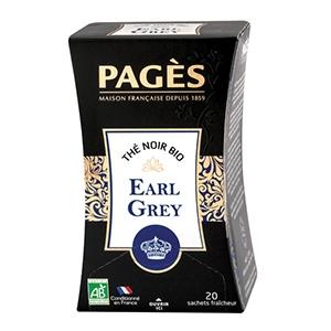 Thé noir Earl Grey Prestige bio Pagès 20 sachets