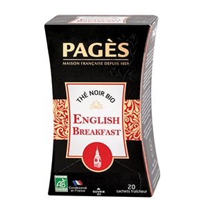 Thé noir bio Pagès x20