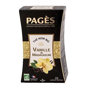 Thé noir bio vanille Pagès x20