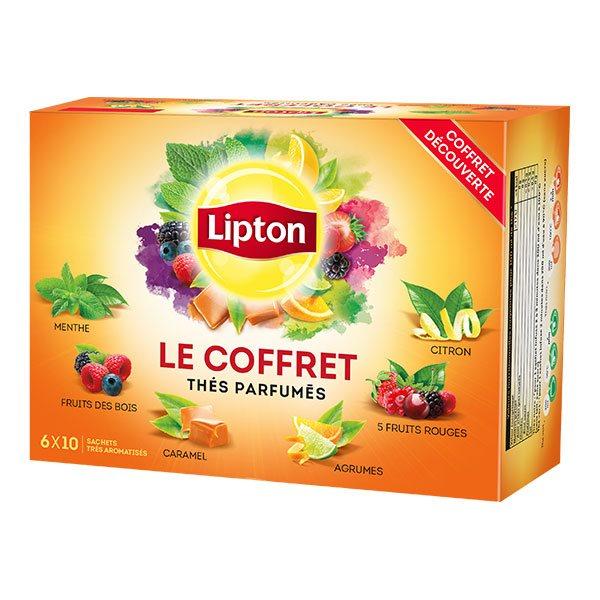 Coffret assortiment de thés parfumés Lipton - 60 sachets