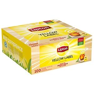 Thé noir Yellow Label Lipton 100 sachets fraîcheur
