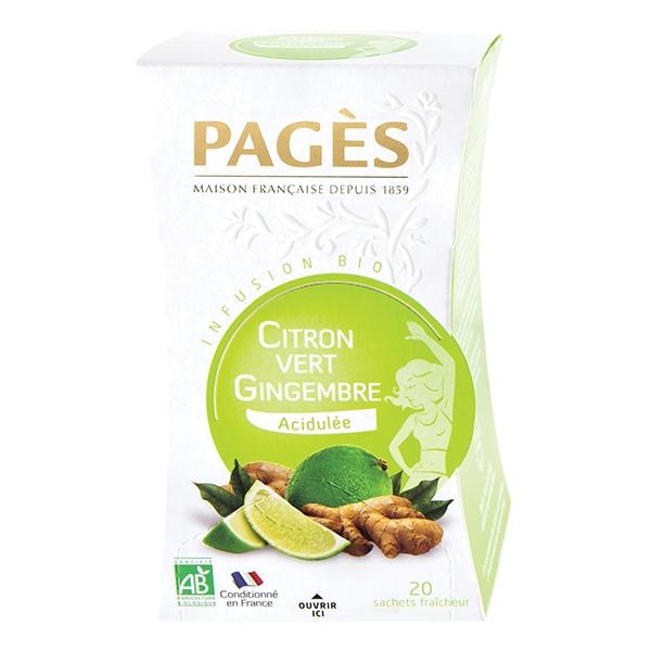 Infusion Citron vert / Gingembre Bio Pagès