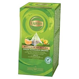 Thé vert mandarine - orange Lipton Exclusive Selection 30 sachets