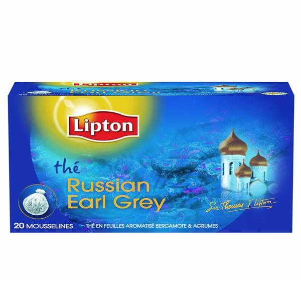 Thé Russian Earl Grey Lipton 20 sachets