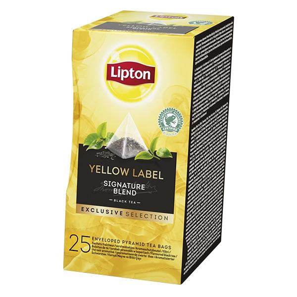 Thé noir Yellow Label Exclusive Selection 25 LIPTON sachets pyramid