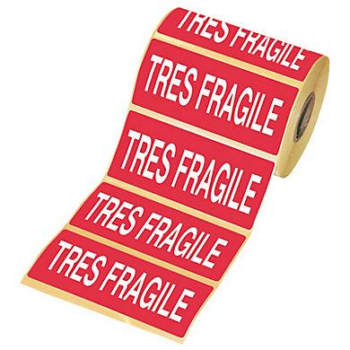 Etiquette adhésive très fragile