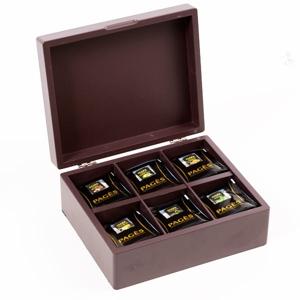 Coffret bois assortiment thés bio Pagès 60 sachets de 6 thés