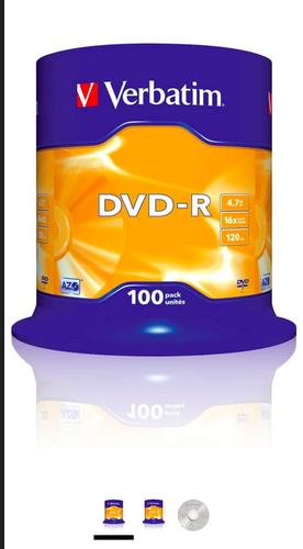Verbatim 16x DVD-R Matt Silver - 1 DVD