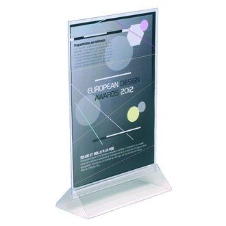 Présentoir de table Taymar double face A4 transparent