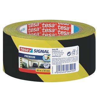Ruban adhésif de marquage Tesa PVC 50 mm x 66 m - Jaune et noir