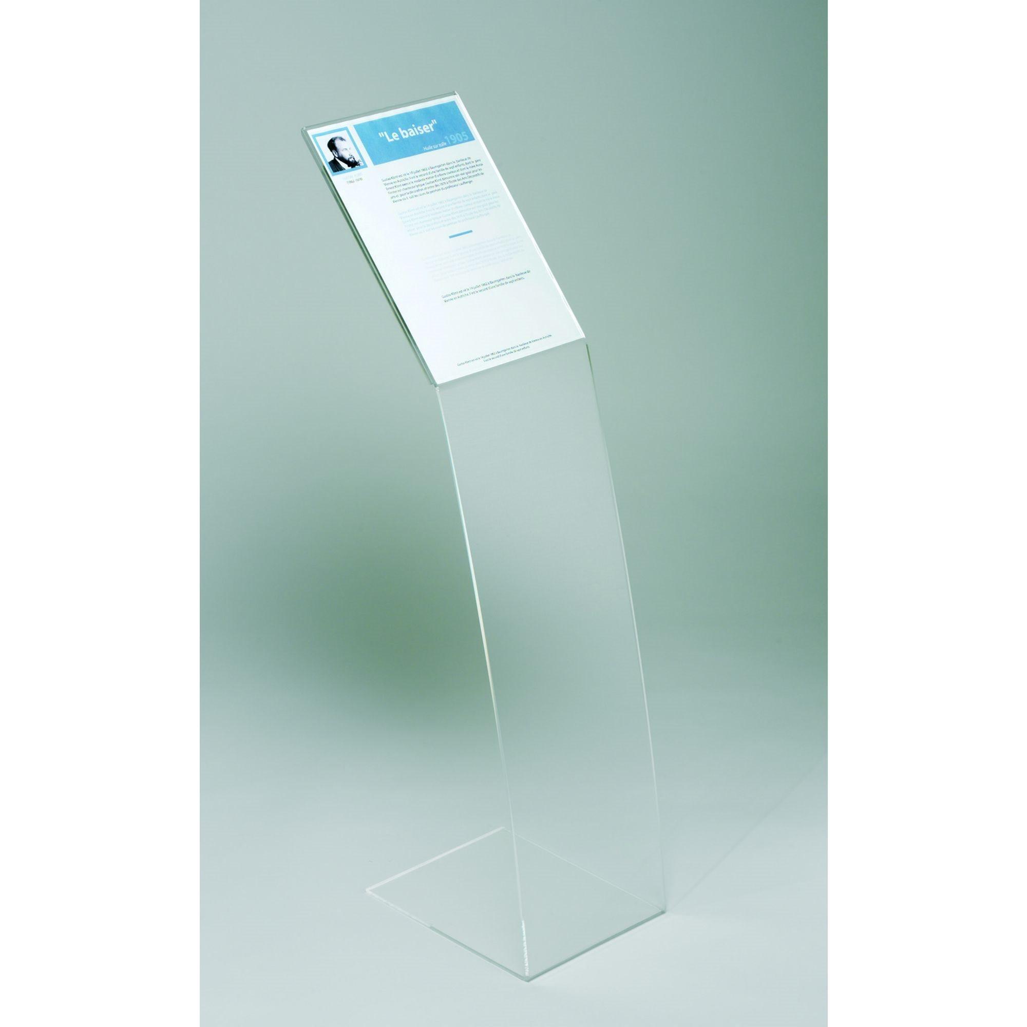 Présentoir fixe plexiglas translucide 1 document pour format A4