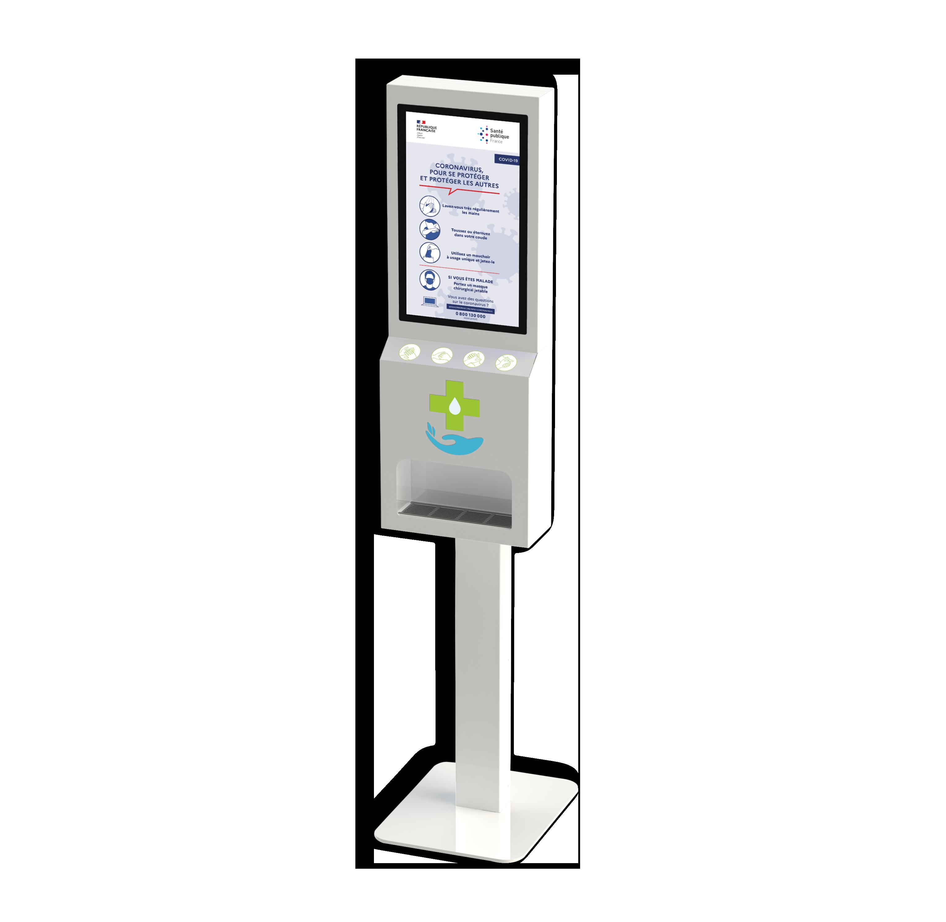 Borne digitale et automatique de distributions de gel hydroalcoolique