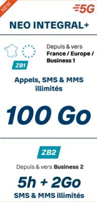 Forfait SANS téléphone <br><b>NEO INTÉGRAL +</b> 100 Go - Prime exceptionnelle jusqu'à 120€