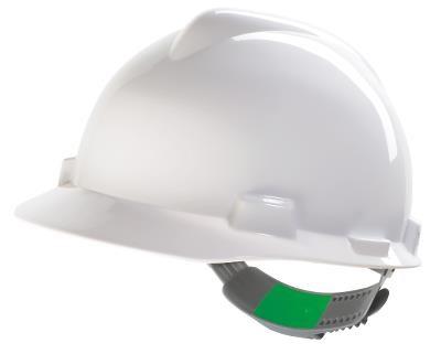 Casque V-GARD ventilé Fas-Trac (molette) porte-badge - blanc